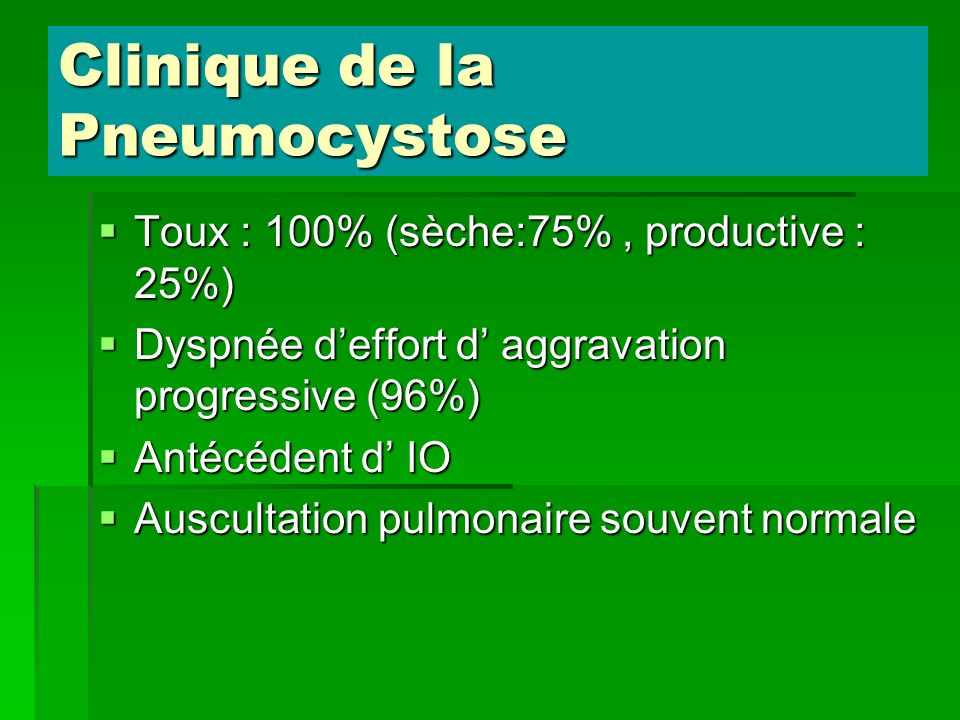 Clinique de la Pneumocystose