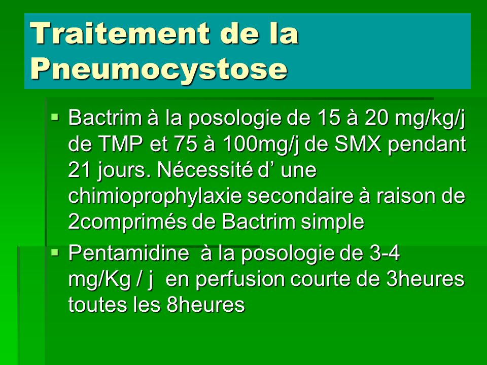 Traitement de la Pneumocystose