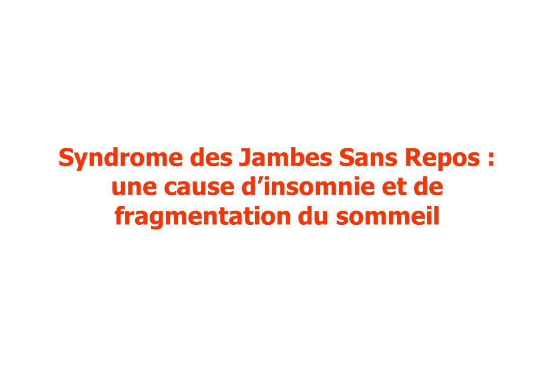 Syndrome des Jambes Sans Repos : une cause d'insomnie et de fragmentation du sommeil