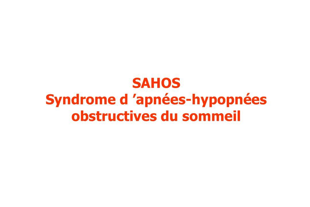 SAHOS Syndrome d 'apnées-hypopnées obstructives du sommeil