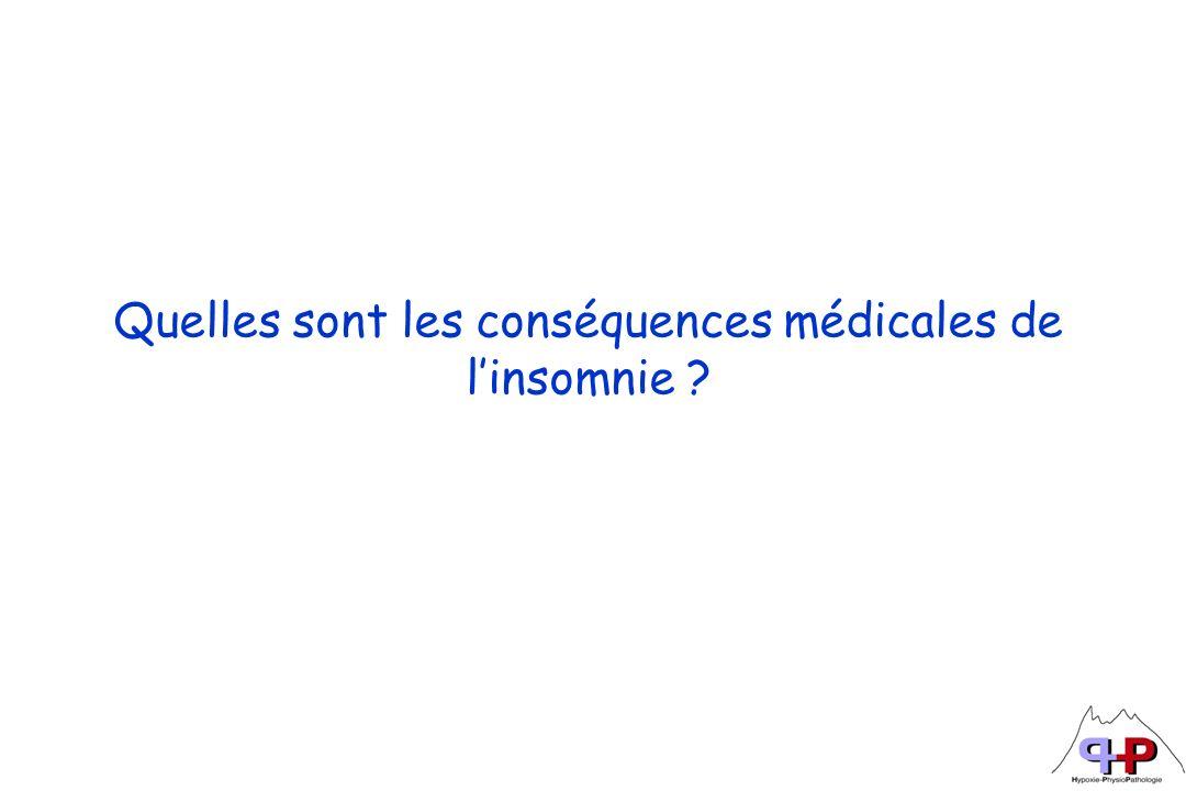 Quelles sont les conséquences médicales de l'insomnie