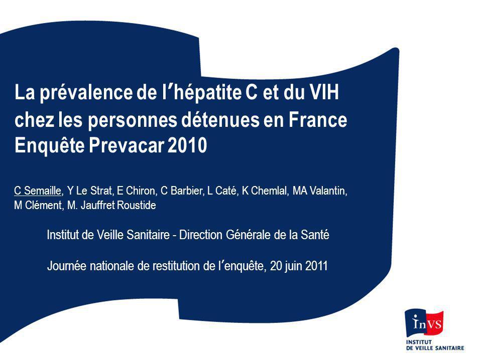 La prévalence de l'hépatite C et du VIH chez les personnes détenues en France