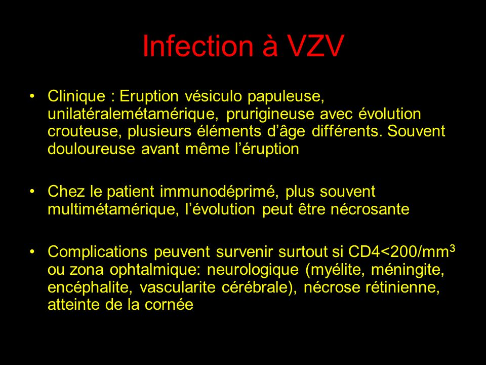 Infection à VZV
