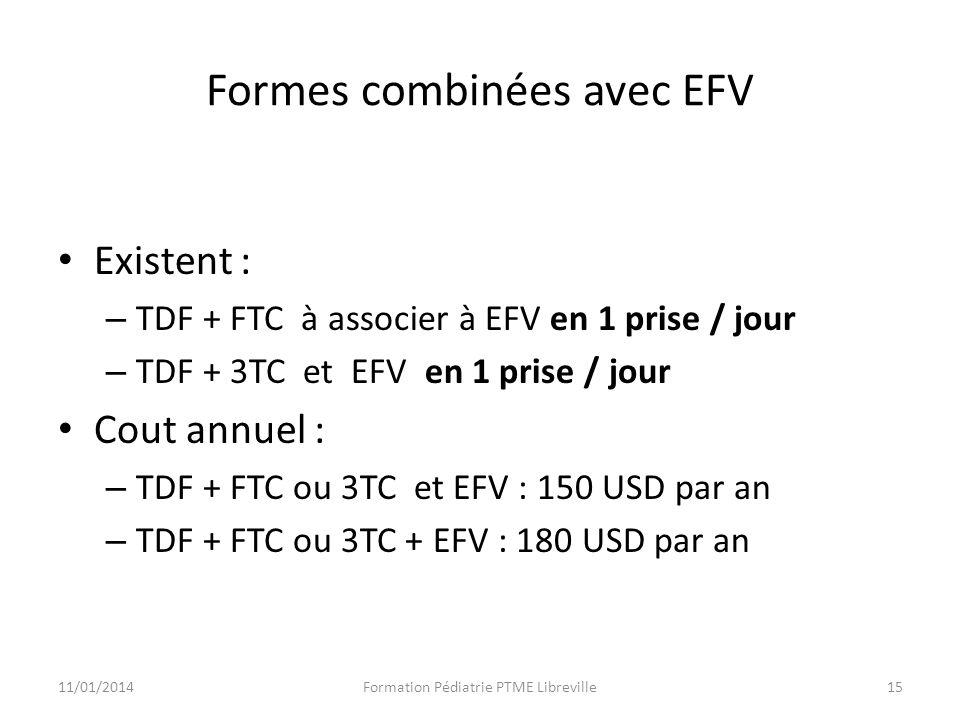 Formes combinées avec EFV