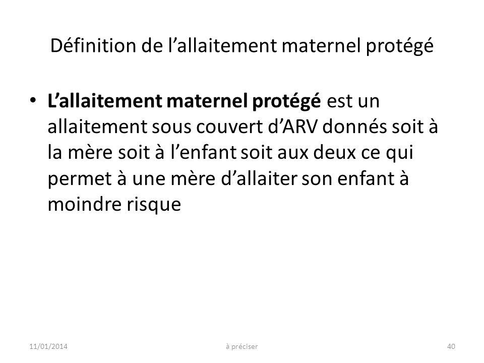 Définition de l'allaitement maternel protégé