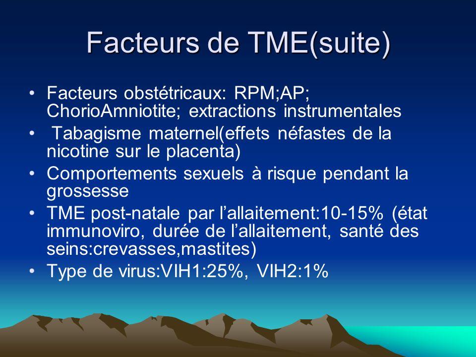Facteurs de TME(suite)