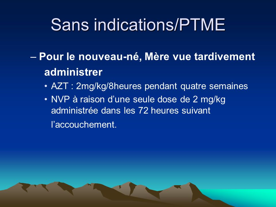 Sans indications/PTME