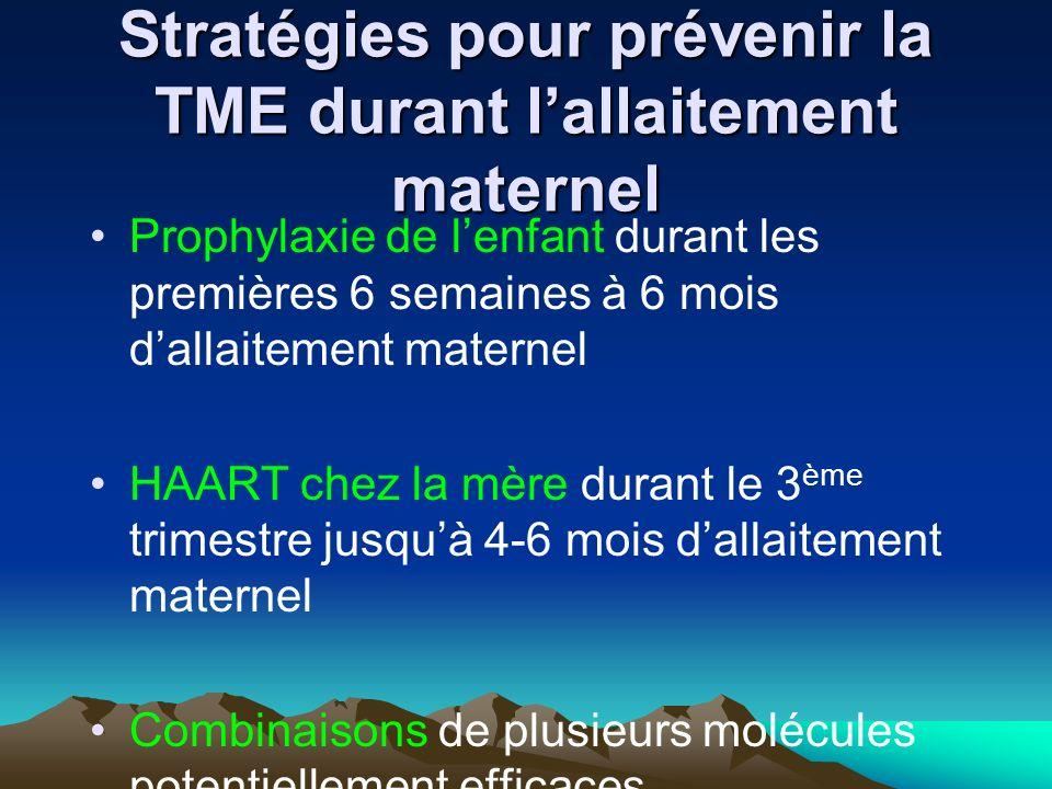 Stratégies pour prévenir la TME durant l'allaitement maternel