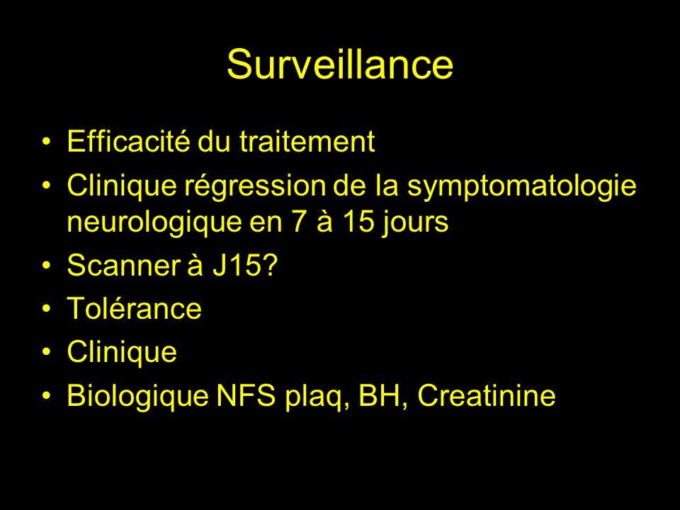 Surveillance Efficacité du traitement