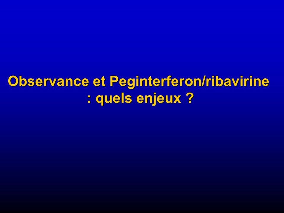 Observance et Peginterferon/ribavirine : quels enjeux