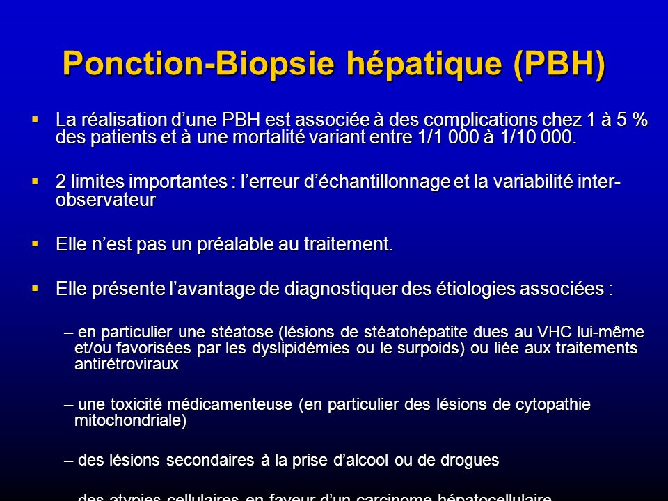 Ponction-Biopsie hépatique (PBH)