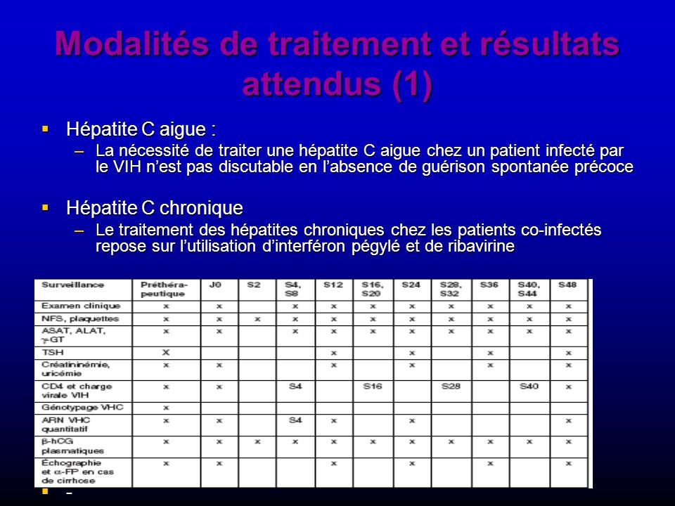 Modalités de traitement et résultats attendus (1)