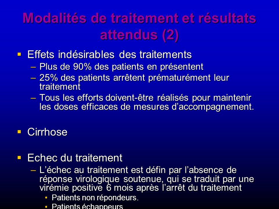 Modalités de traitement et résultats attendus (2)