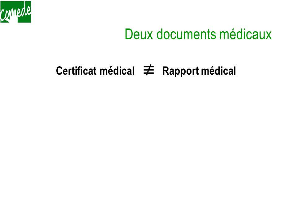 Deux documents médicaux