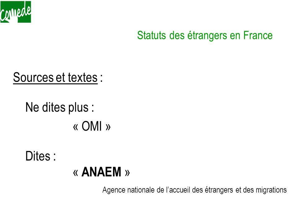 Statuts des étrangers en France