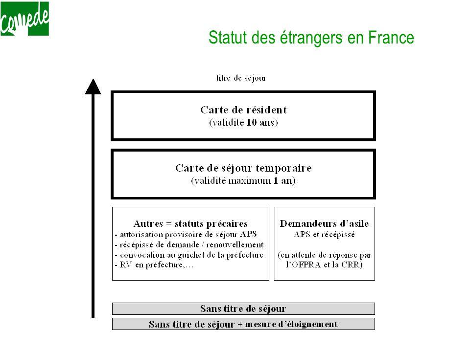 Statut des étrangers en France