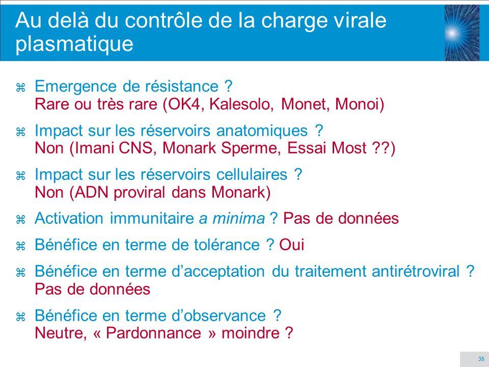 Au delà du contrôle de la charge virale plasmatique