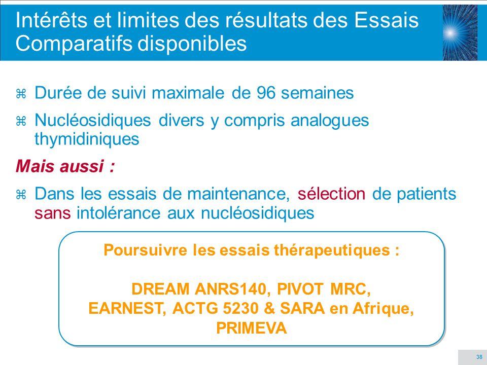 Intérêts et limites des résultats des Essais Comparatifs disponibles