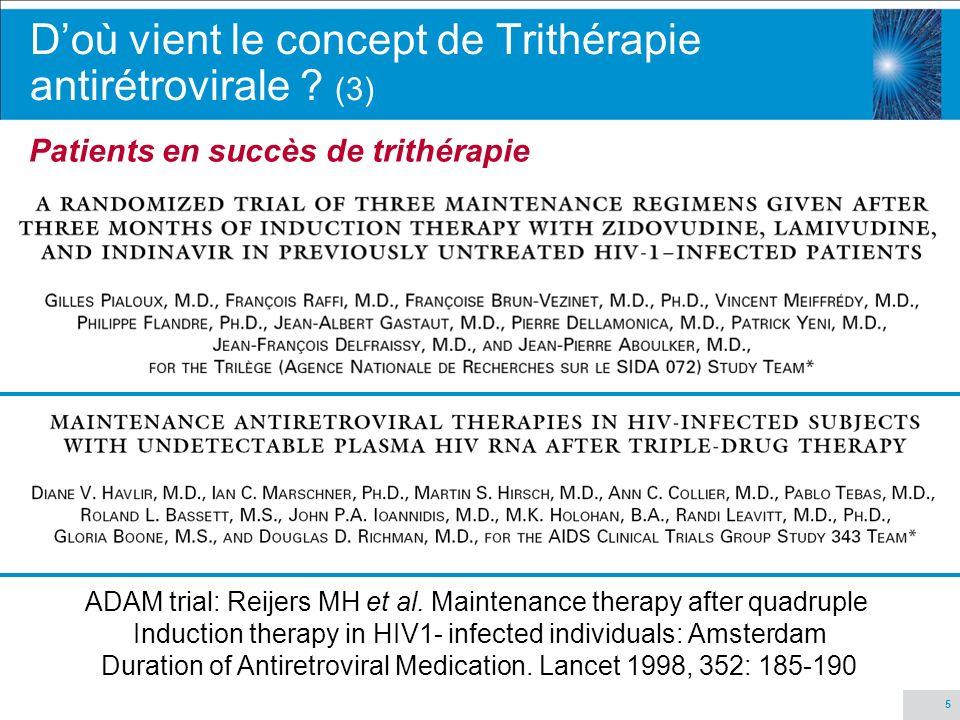 D'où vient le concept de Trithérapie antirétrovirale (3)