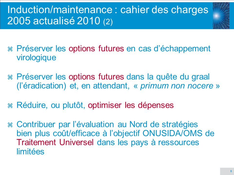 Induction/maintenance : cahier des charges 2005 actualisé 2010 (2)