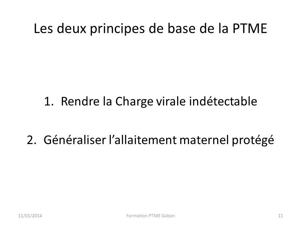 Les deux principes de base de la PTME