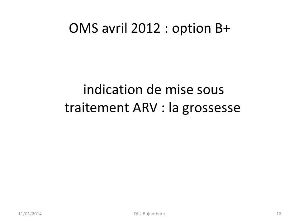 indication de mise sous traitement ARV : la grossesse