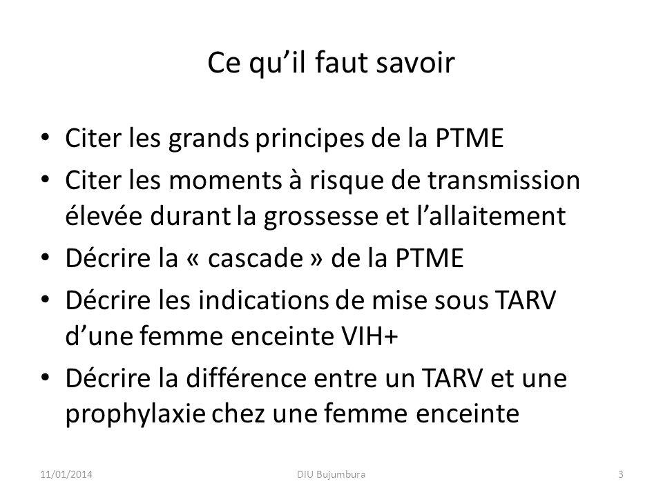 Ce qu'il faut savoir Citer les grands principes de la PTME