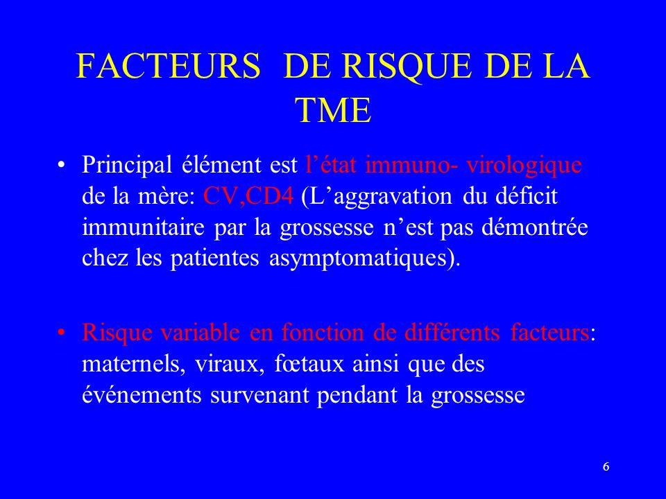 FACTEURS DE RISQUE DE LA TME