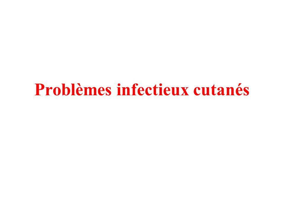 Problèmes infectieux cutanés