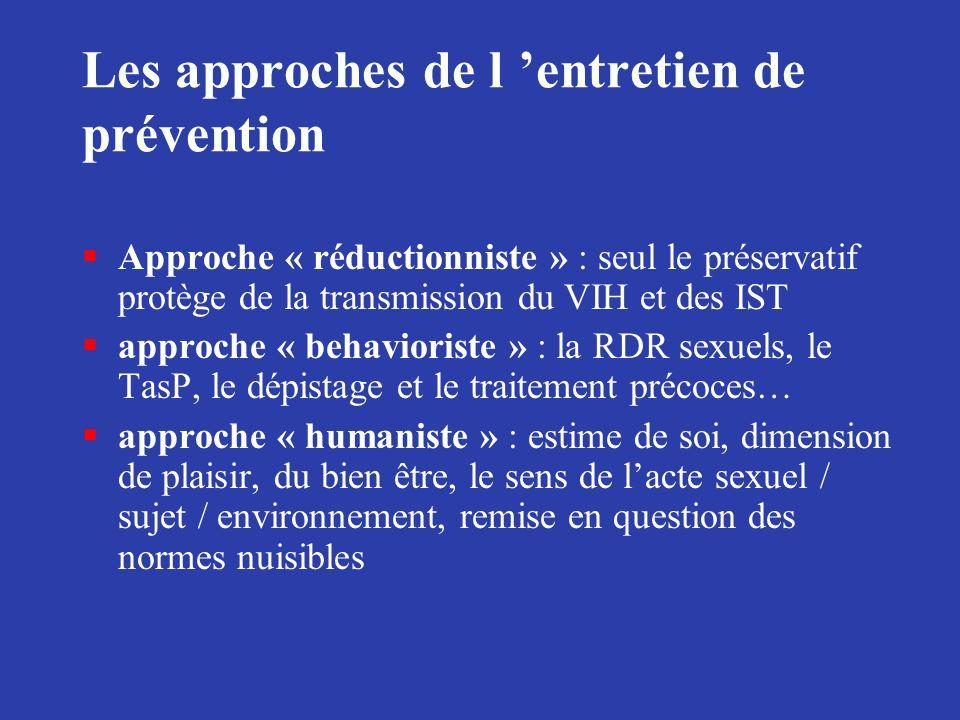 Les approches de l 'entretien de prévention