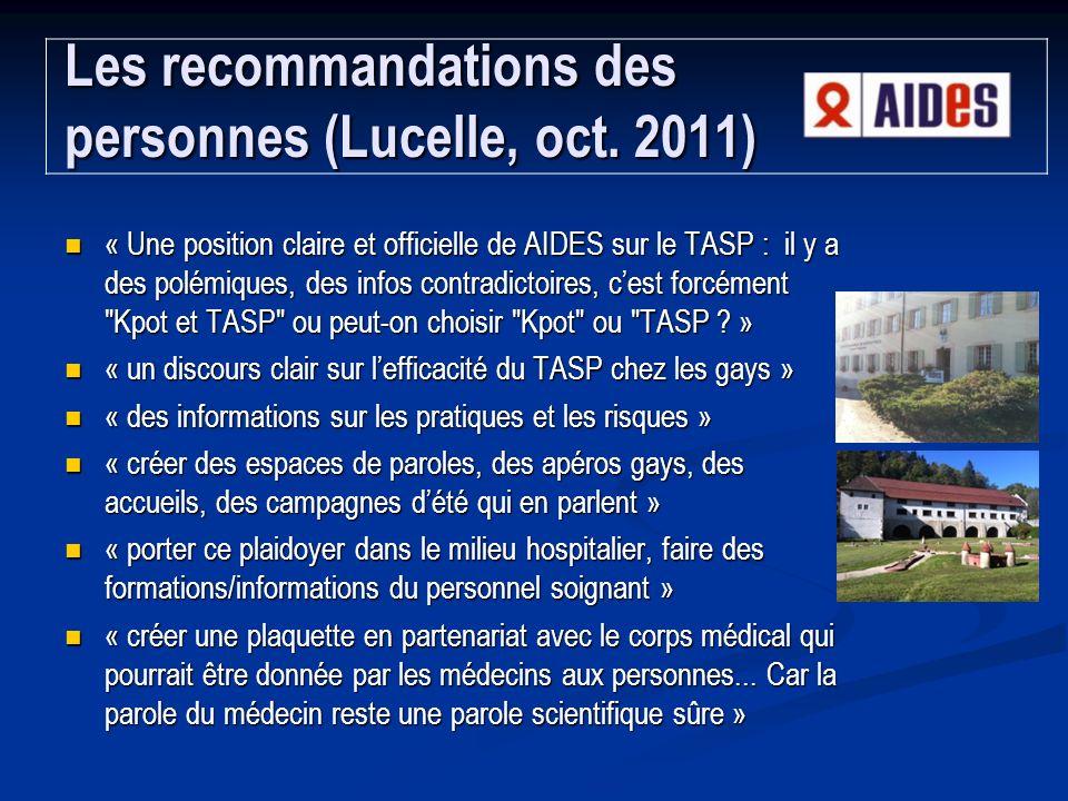 Les recommandations des personnes (Lucelle, oct. 2011)