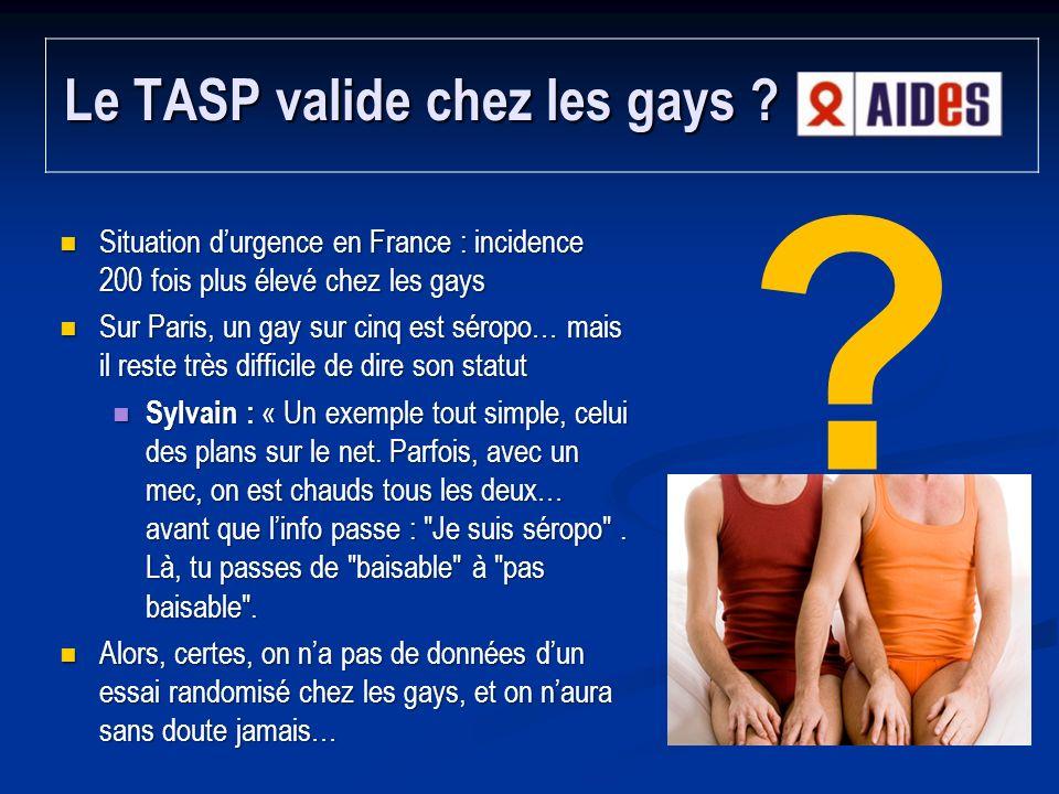 Le TASP valide chez les gays
