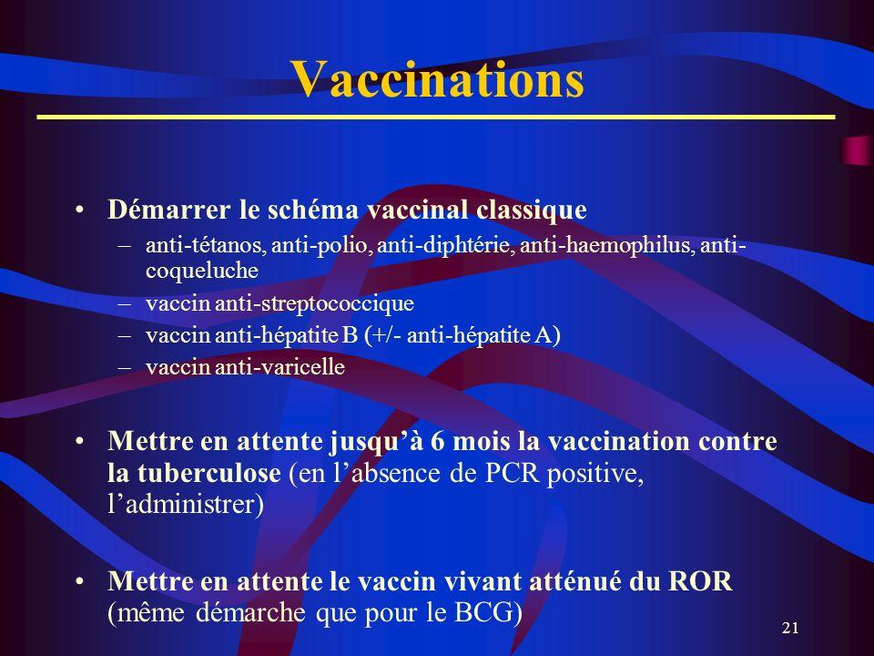 Vaccinations Démarrer le schéma vaccinal classique
