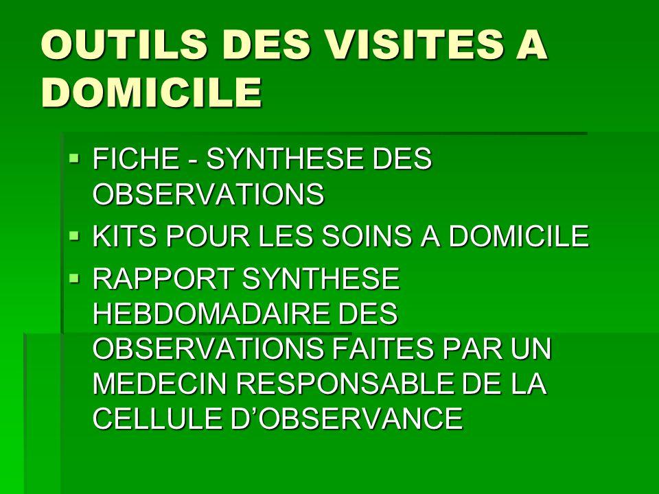 OUTILS DES VISITES A DOMICILE