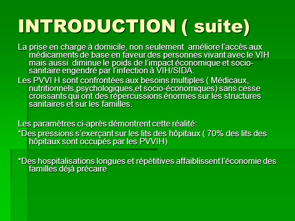 INTRODUCTION ( suite)