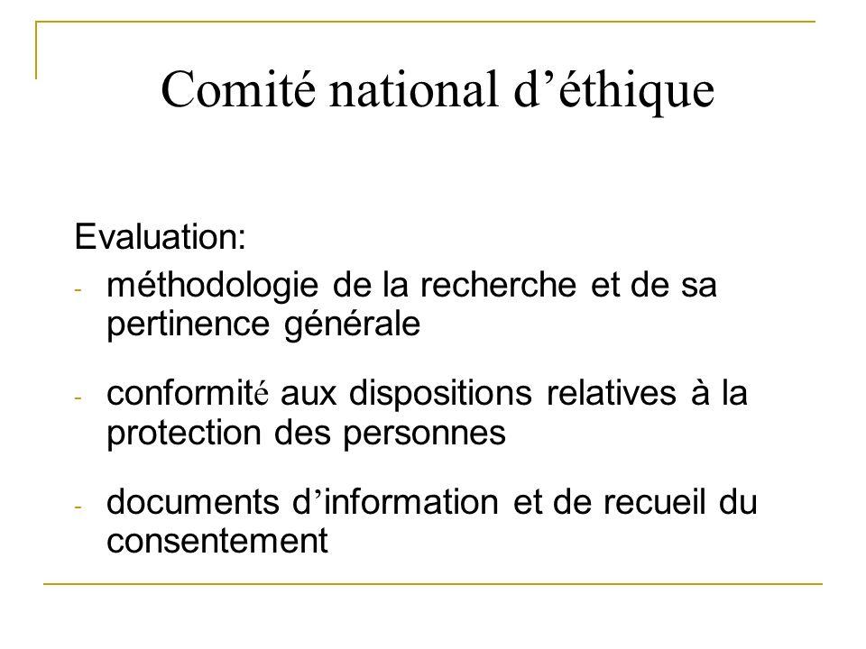 Comité national d'éthique