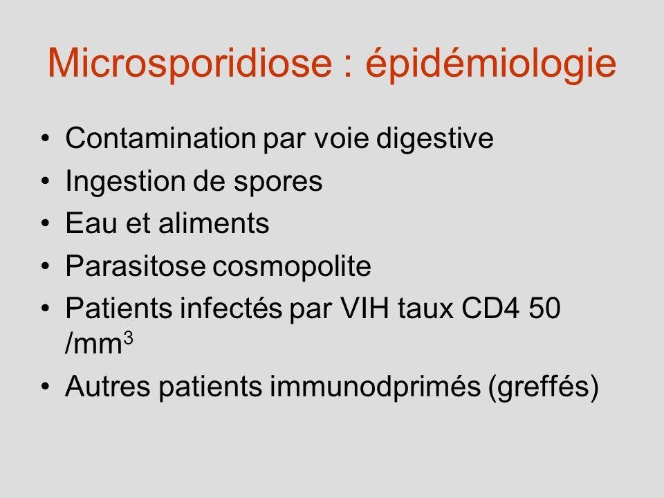 Microsporidiose : épidémiologie