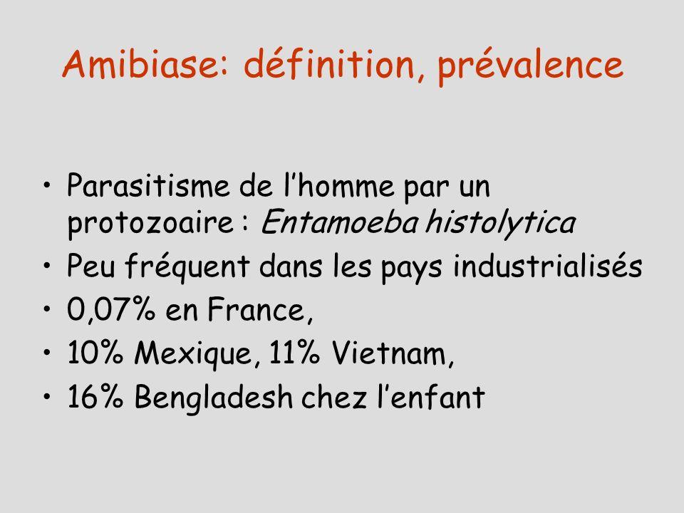 Amibiase: définition, prévalence