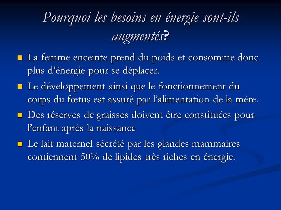 Pourquoi les besoins en énergie sont-ils augmentés