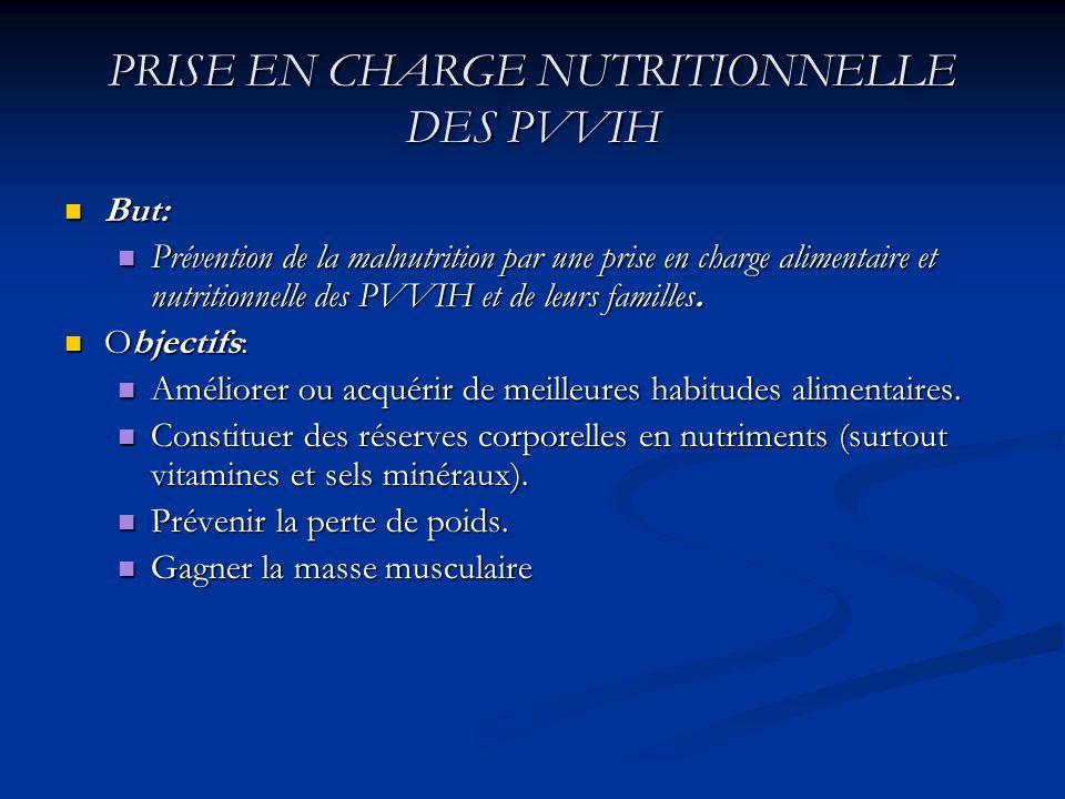 PRISE EN CHARGE NUTRITIONNELLE DES PVVIH