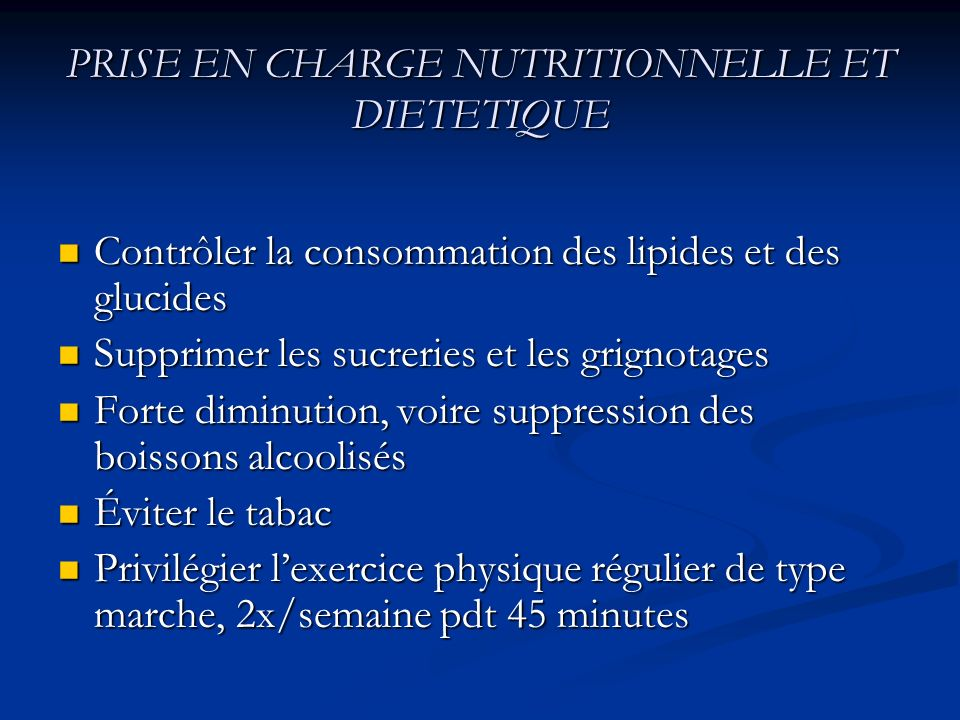 PRISE EN CHARGE NUTRITIONNELLE ET DIETETIQUE