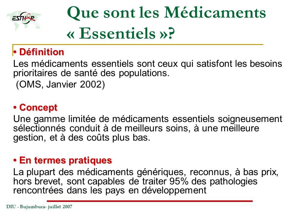 Que sont les Médicaments « Essentiels »