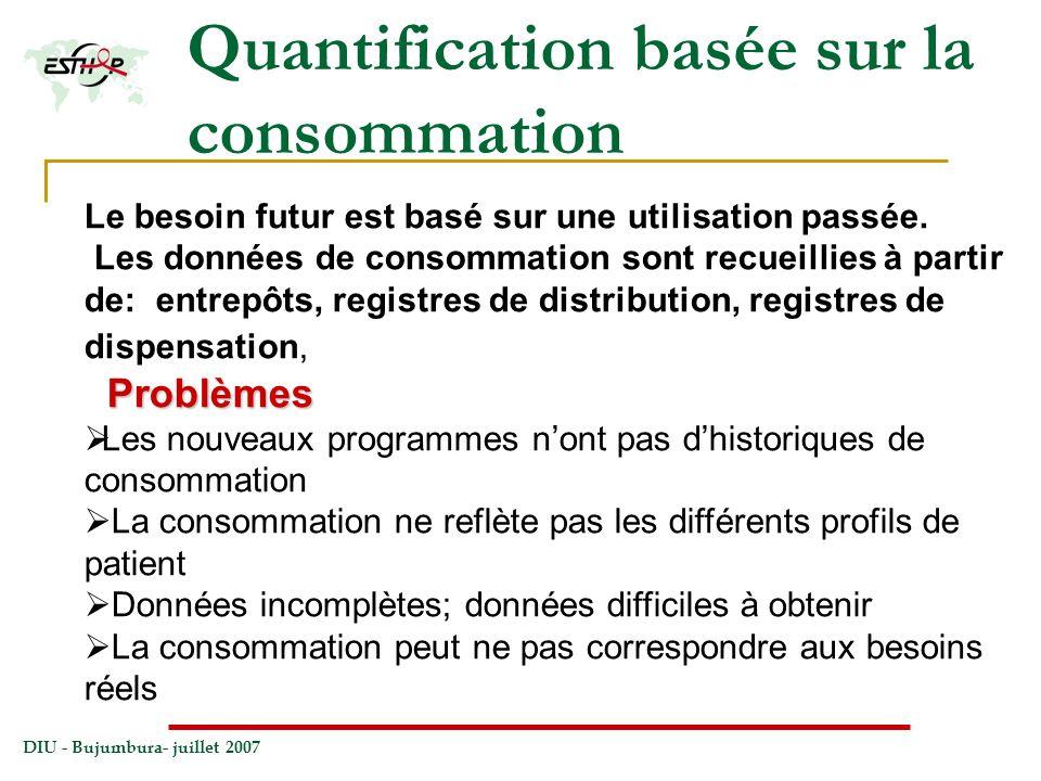 Quantification basée sur la consommation
