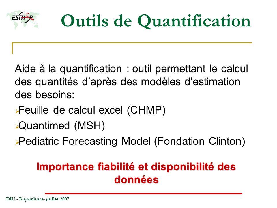 Outils de Quantification