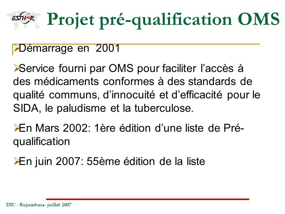 Projet pré-qualification OMS