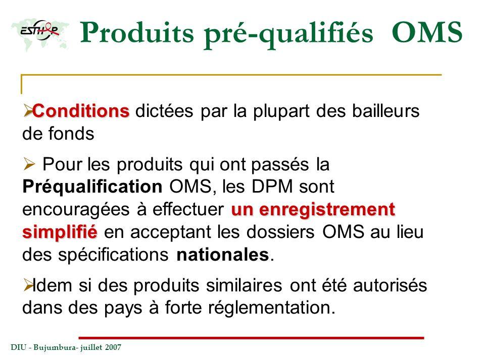 Produits pré-qualifiés OMS