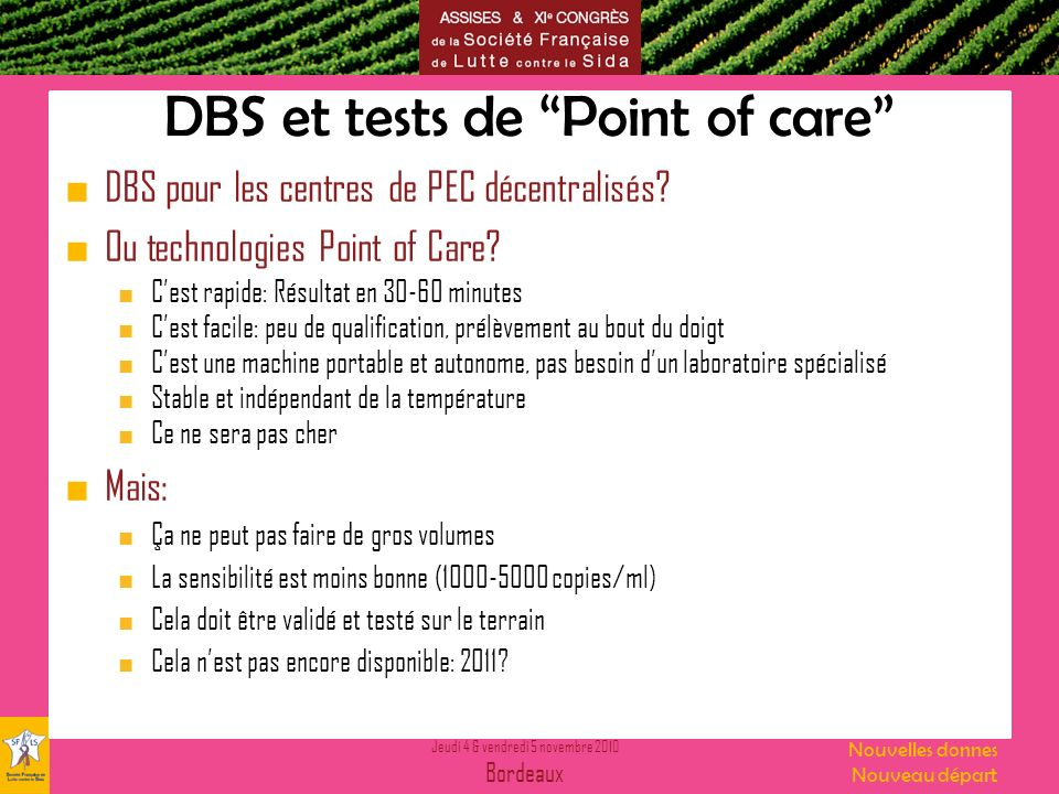 DBS et tests de Point of care