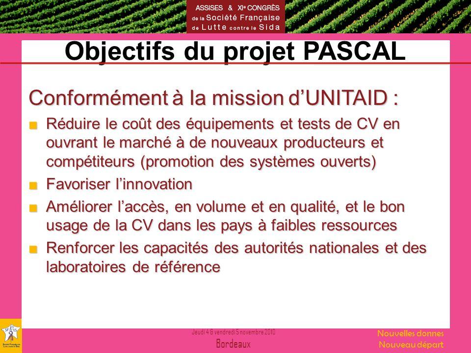 Objectifs du projet PASCAL