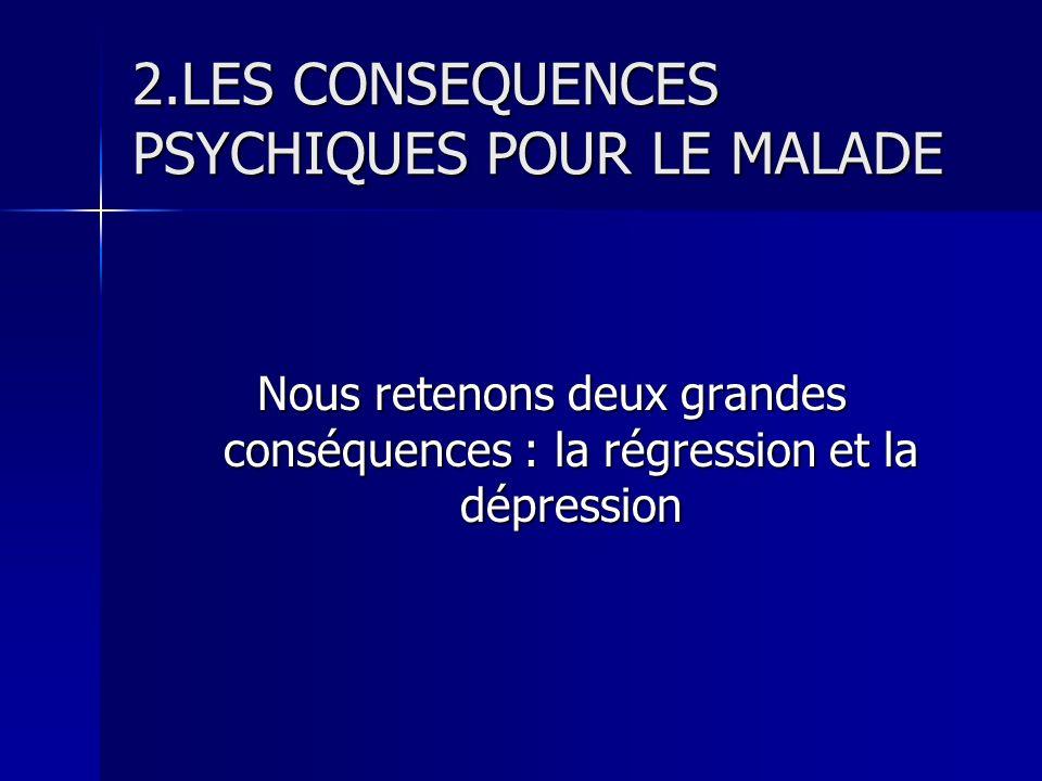 2.LES CONSEQUENCES PSYCHIQUES POUR LE MALADE