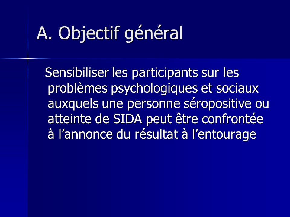 A. Objectif général